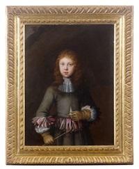 portrait de jeune homme aux rubans by constantyn netscher