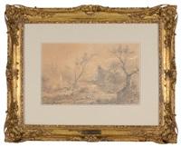 romantic landscape by jules dupré
