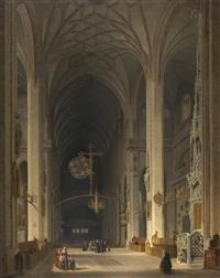 chor und sakramentshaus der nürnberger lorenzkirche, nach westen gesehen by max emanuel ainmiller
