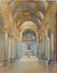 cathedral interior by everett shinn