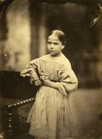 jeune fille à la poupée by jean baptiste frénet