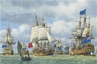 hawke's fleet at spithead in the year of victories by mark richard myers