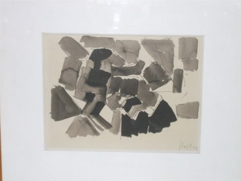 composition grise by nicolas de staël