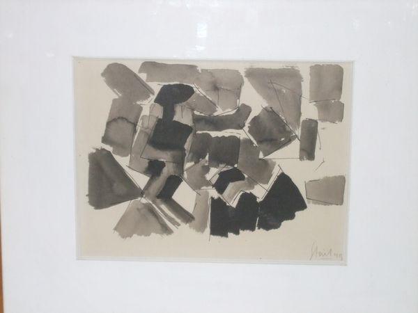 composition grise by nicolas de staël