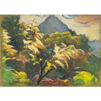 paesaggio primaverile dal mio giardino (spring landscape from my garden) by luigi taddei