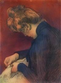portrait de femme by georges daniel monfreid