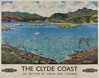 the clyde coast, kyles of bute, british railway by alasdair macfarlane
