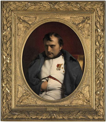 napoleon at fontainebleau, 31 march 1814 by paul hippolyte delaroche
