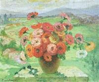 jarrón con flores by marie marguerite reol