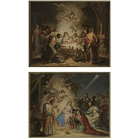 adoration of the magi (+ adoration of the shepherds; pair) by d. francisco bayeu y subias