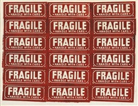 fragile - handle with care by andy warhol