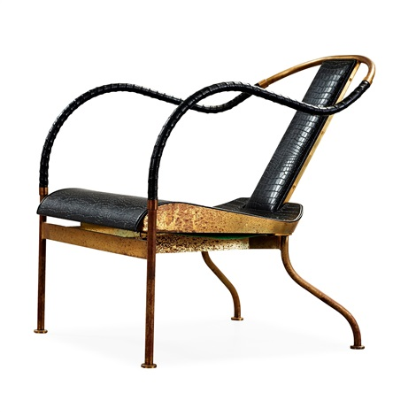 A Mats Theselius U0027el Reyu0027 Brass And Leather Easy Chair By Mats Theselius