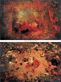 仲夏夜之梦之一、三 (两幅) (a midsummer night's dream no.1&3) (2 works) by ma liang