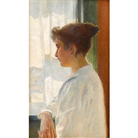 girl by the window by american school