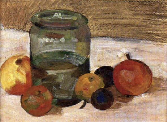 stilleben mit einsiedeglas und früchten by wilhelm dachauer