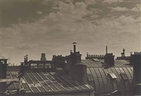 paris, rooftops with st.sulpice by ilse bing