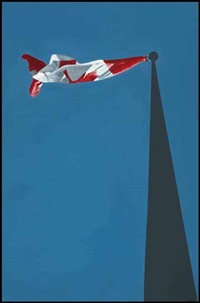 flag by charles pachter