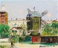 montmartre: le moulin de galette, 1949 by maurice utrillo