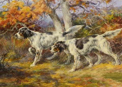 hunting dogs by edmund henry osthaus