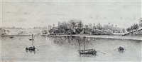 blenheim reach, whampoa (+ another; pair) by alexander wellwood rattray