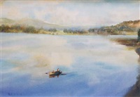 fishing, blessington, co. wicklow by paul kelly