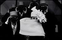 givenchy hat (a), jardin des modes, paris by frank horvat