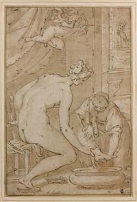 bethsabée au bain by giovanni battista paggi