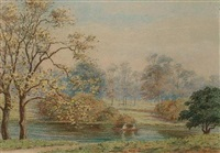 views of kensington gardens (set of 4) by florence kennedy