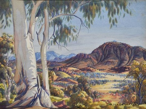 ghost gums by albert namatjira