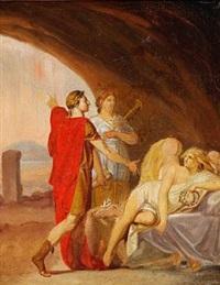 bistået af klio vækker arveprins frederik den sovende fama by nicolaj-abraham abilgaard