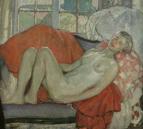 reclining nude by richard edward miller