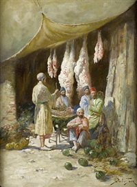 the butcher's stall by georgy gabashvili