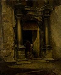 figure presso l'antico portale by mario de maria