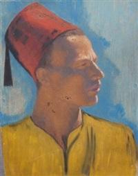 portrait de jeune homme oriental by ludwig deutsch