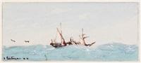 segelboote (3 works) by heinrich leitner