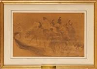 la retraite de russie., l'empereur et sa troupe by adolphe léon willette