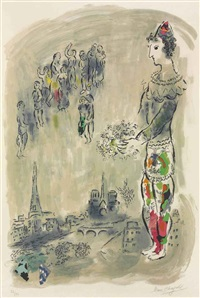 le magicien de paris i by marc chagall