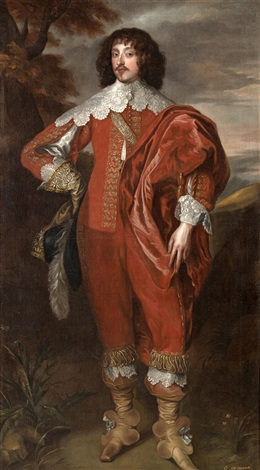 a portrait of william villiers 2nd viscount grandison by sir anthony van dyck
