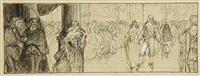 magnus gabriel de la gardie at the court of queen christina of sweden by albert edelfelt