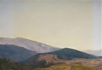 landscape (blue brown red) no 34, 2nd variation by chris langlois