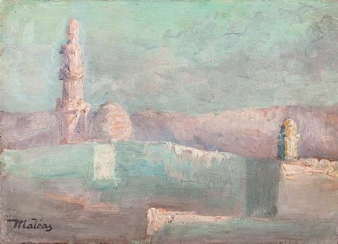 egyptian landscape by konstantinos maleas