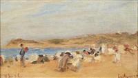 la plage de saint-jean-de-luz by lucien rené mignon