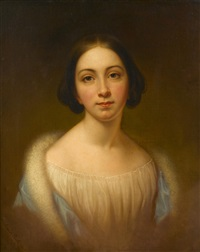 portrait of rebecca miller welsh by rembrandt peale