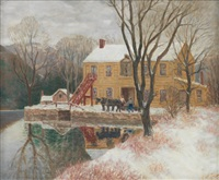 mill in winter by winfield scott clime