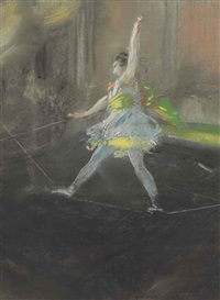 tight rope walker, hippodrome by everett shinn