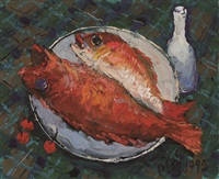 a pair of fishes (annual surplus) (pair) by pang jun