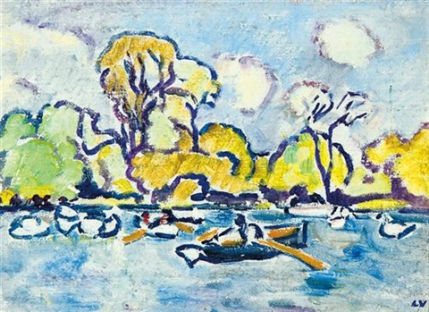 sur le lac by louis valtat
