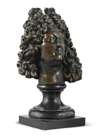bust of king louis xiv of france and navarre by françois girardon