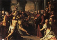 the raising of lazarus by marten pepyn