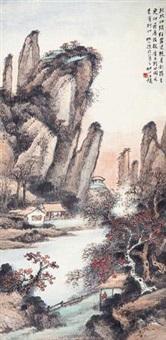 秋林山色 by wang kun